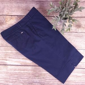 Tommy Hilfiger Women's Bermuda Shorts Navy Stretch